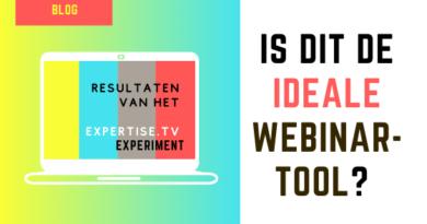 experiment ExpertiseTV webinar tool