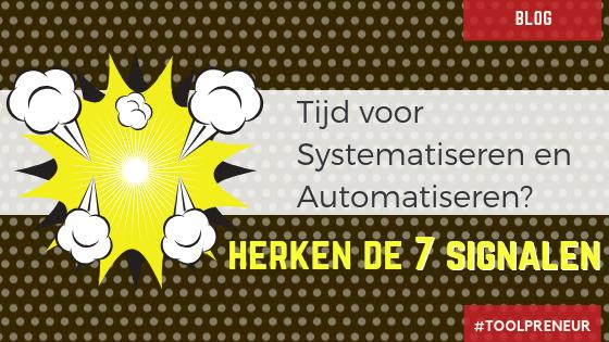 tijd om te starten met systemen en automatiseren