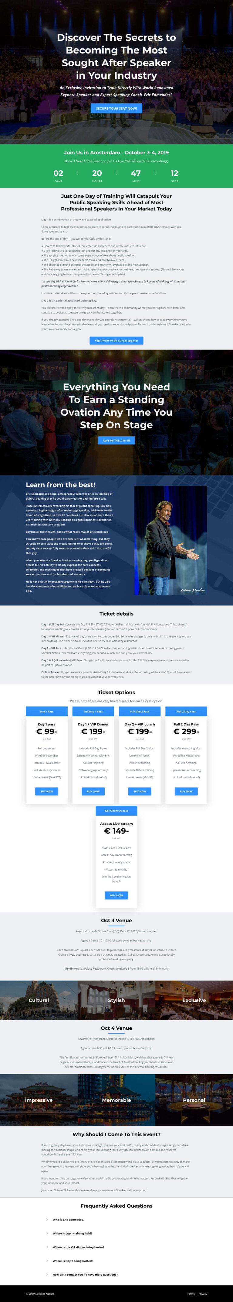 voorbeeld salespage