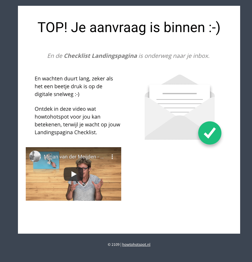 blog bedankpagina howtohotspot met video