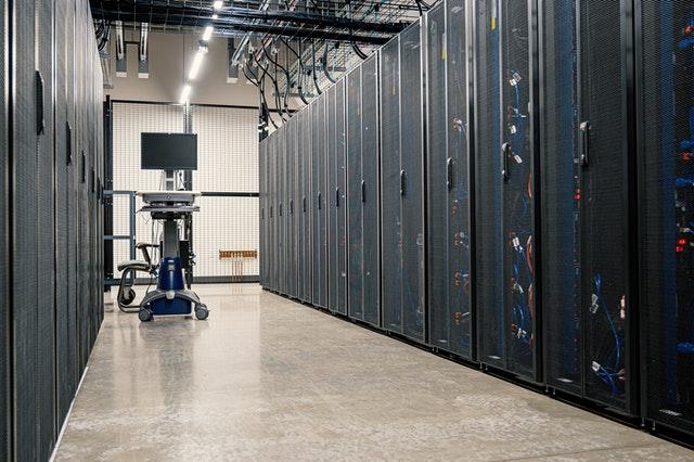 server racks in datacenter