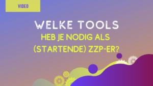 image videopost welke tools zzpers nodig hebben