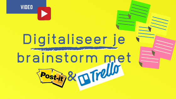 Digitaliseer je brainstorm met Trello
