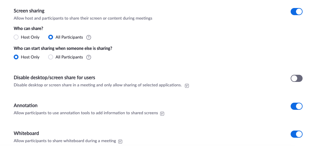 zoom instellingen online vergaderen