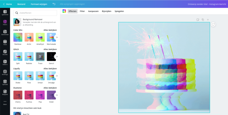 Canva Effect Glitch