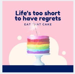 tekst en taart samengevoegd