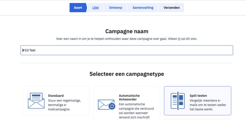 stap voor stap een campagne maken in Active Campaign