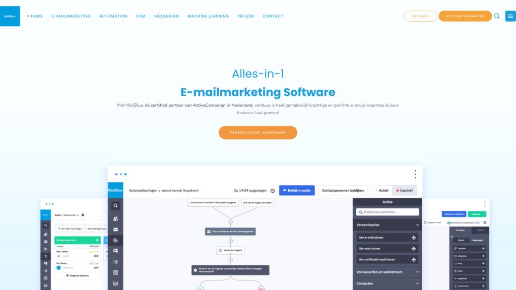 ActiveCampaign (Mailblue) e-mailmarketing