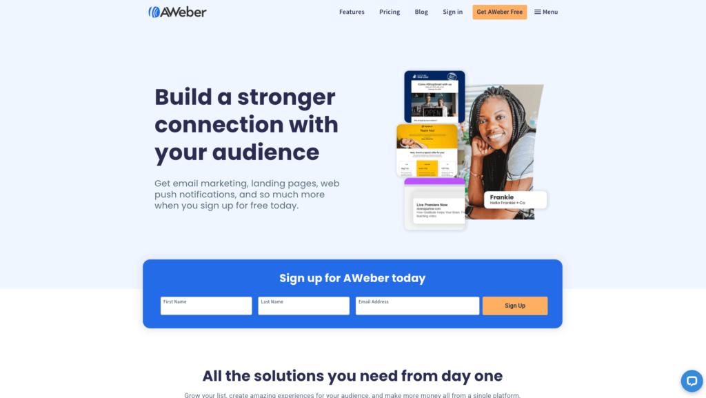 Aweber e-mailmarketing pakket