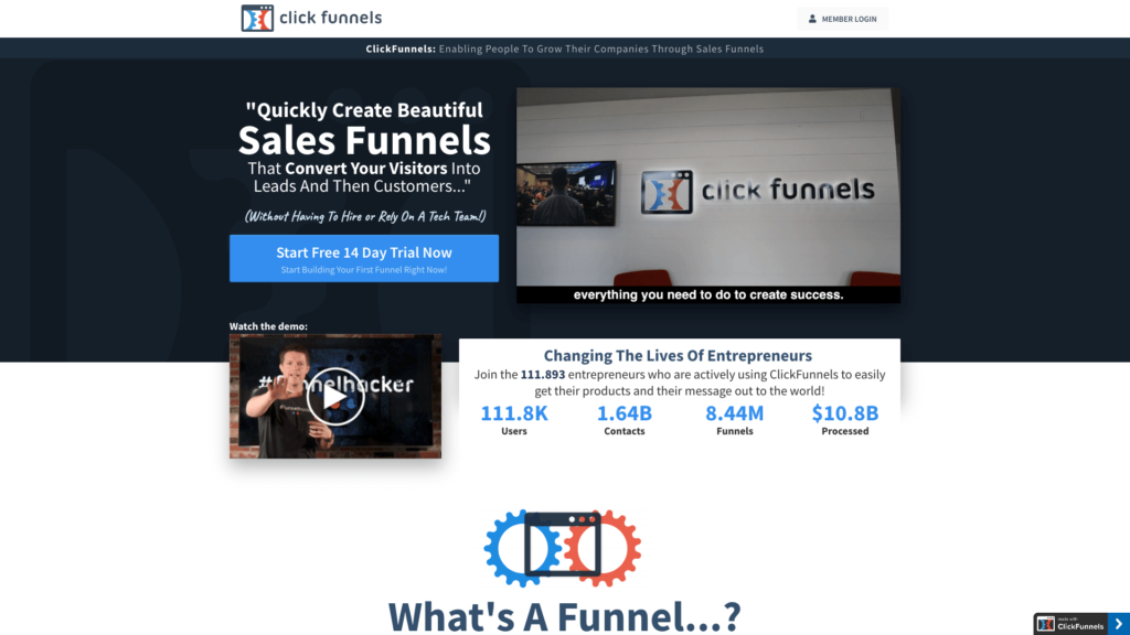 Clickfunnels e-mailmarketing platform