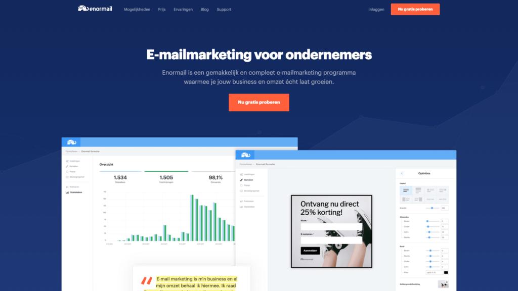 Enormail e-mailmarketing tool