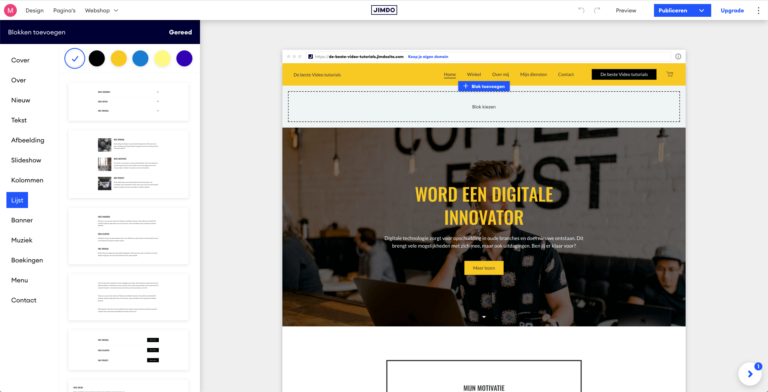 Jimdo review - website maker