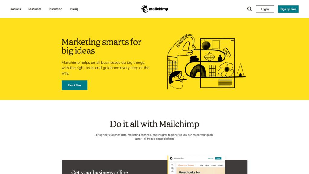 Mailchimp e-mailmarketing software